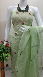 "Light Green Kota Cotton "" Embroidery "" Special Suit"