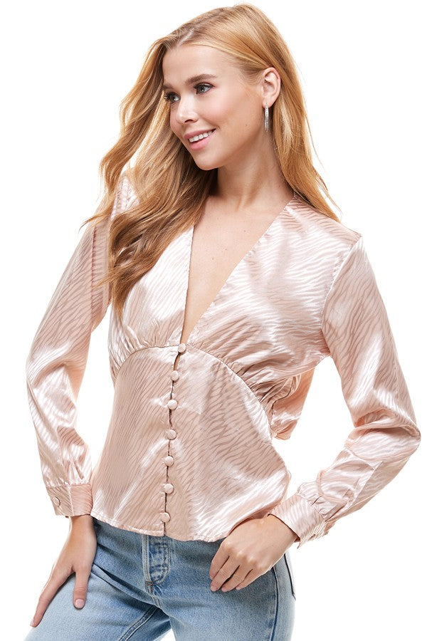 L/S Shirred Blouse by On-Twelfth