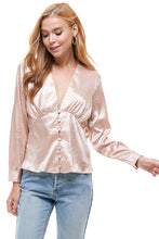Load image into Gallery viewer, L/S Shirred Blouse by On-Twelfth