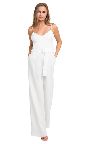 White Evie Jumpsuit by Black Halo