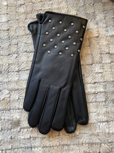 Black Faux Leather I-Touch Gloves w/ Studs by Sophia *Multiple Colors Available*