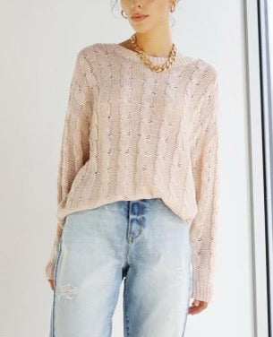 Cable Knit Crew Neck Knit