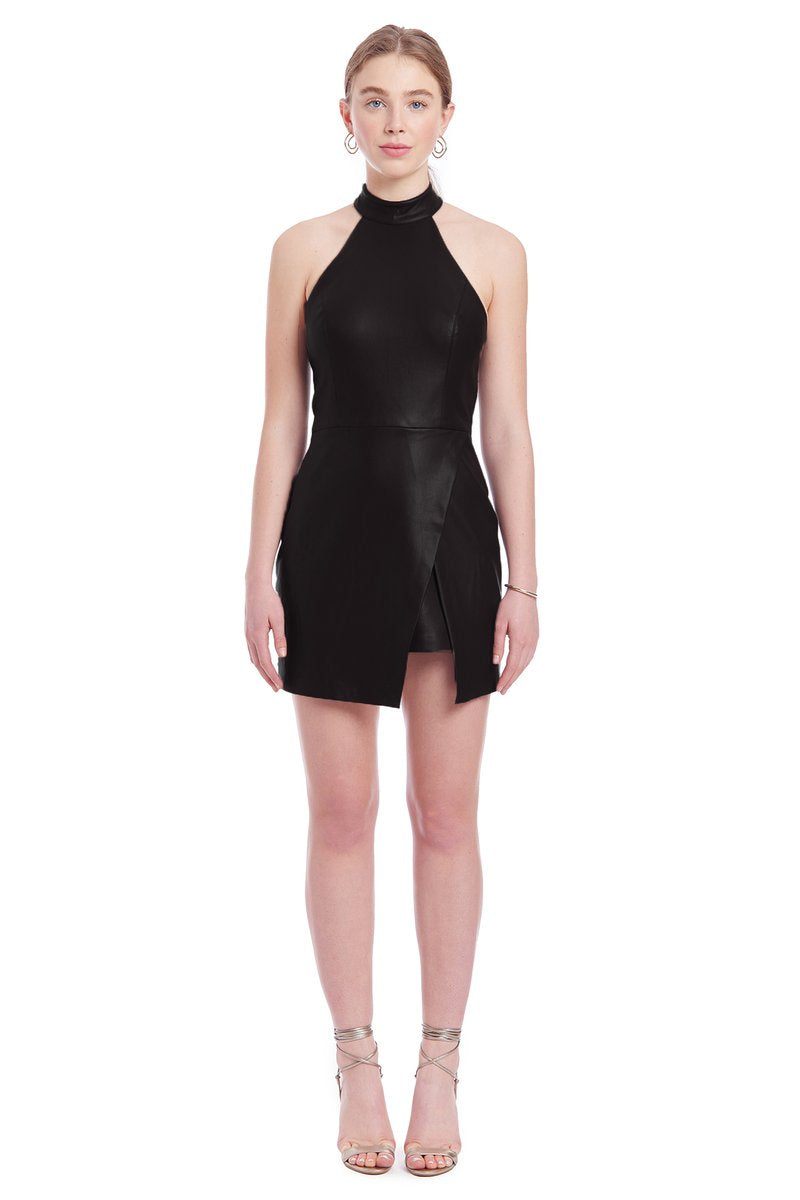 Raelynn Faux Leather Dress