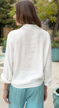 Load image into Gallery viewer, Long Sleeve Button Down Linen Blouse