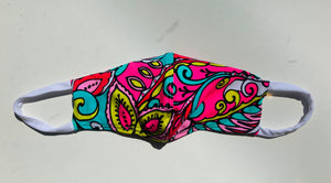 Women's Neon Paisley Face Covering
