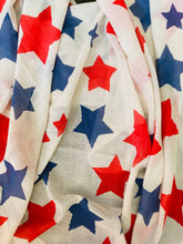 Load image into Gallery viewer, USA Star Sarong/Scarf Cover Up