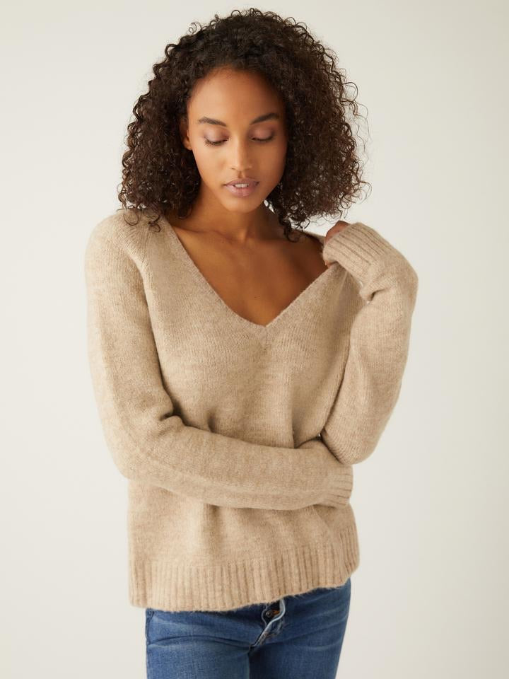 V-Neck Pullover Sweater by Fifteen Twenty