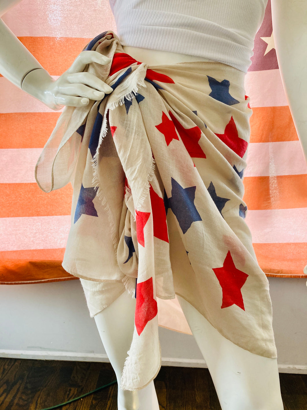 USA Star Sarong/Scarf Cover Up