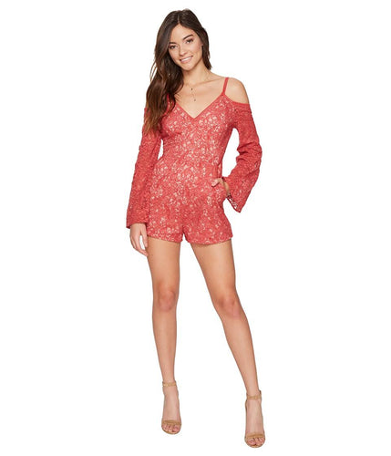Lace Long Sleeve Romper by The Jetset Diaries