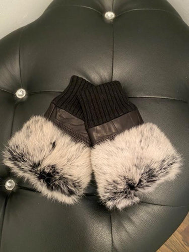 Fingerless Gloves w/ Fur Trim by Jayley *Multiple Colors Available*