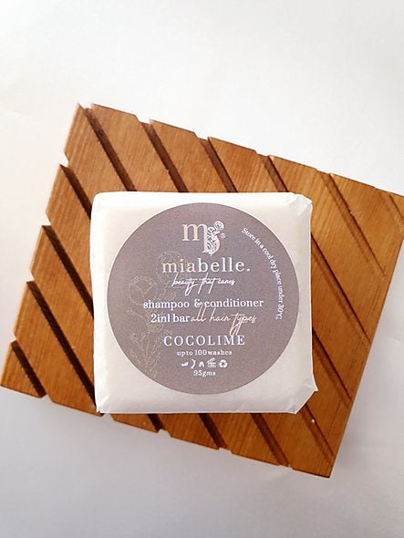 Mia belle beauty shampoo and conditioner bar. Cocolime scent. Fill Good Cambridge