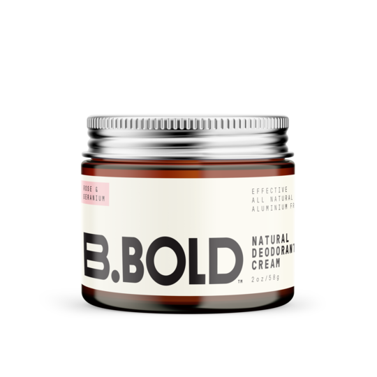 B.Bold natural deodorant cream, 58g jar. Fill Good Cambridge