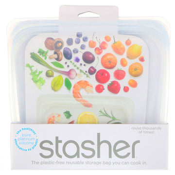 Stasher plastic-free reusable storage bag. Fill Good Store Cambridge