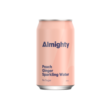 Almighty Peach Ginger Sparkling Water