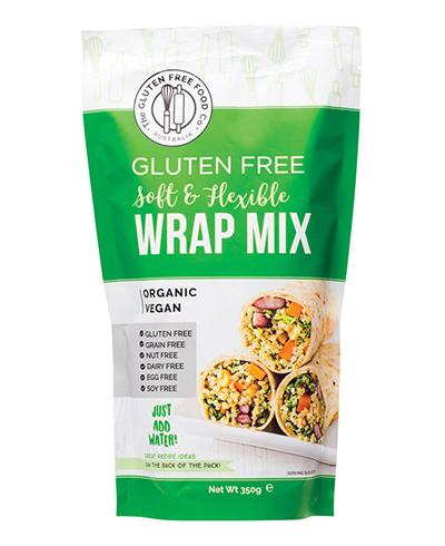 The Gluten Free Food co, Australia, gluten free soft and flexible wrap mix. Organic and vegan. Fill Good Store Cambridge