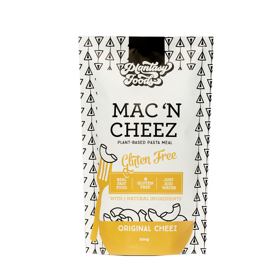 Plantasy Foods Mac n Cheez Gluten free pasta based meal. Original cheez flavour. Fill Good Cambridge