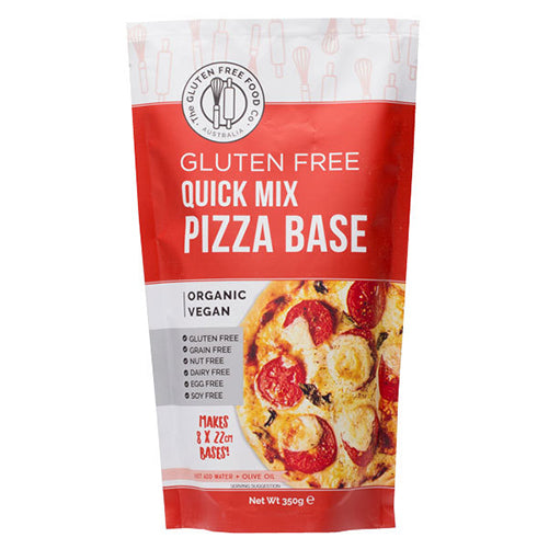The Gluten Free Food co, Australia, quick mix, gluten free pizza base mix. Organic and vegan. Fill Good Store Cambridge.