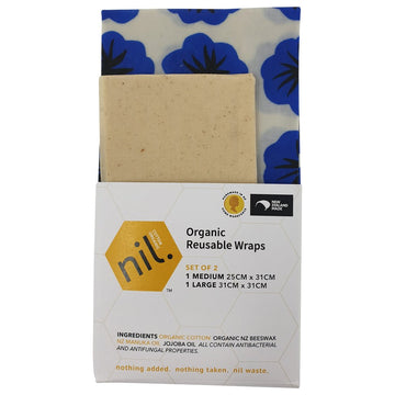 Nil reuseable beeswax wraps. Pack of 2. Fill Good Store Cambridge