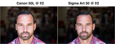 50mm sample sigma vs canon