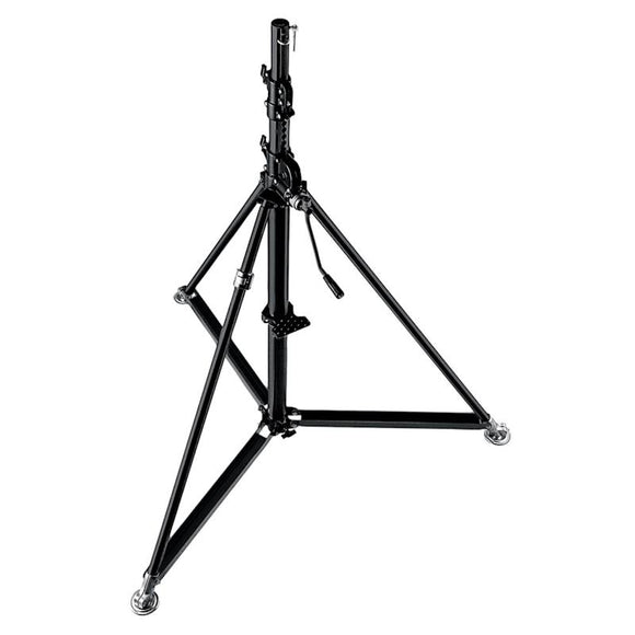 Manfrotto 387XBU S/STEEL SUPER WIND UP STAND BLK
