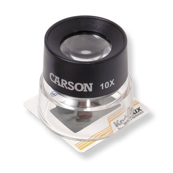 Carson LumiLoupe 10X Power Stand Magnifier