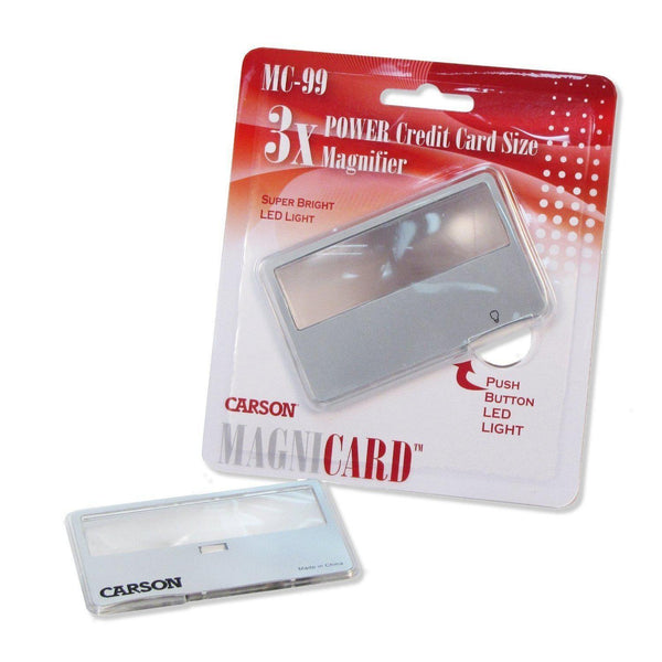 Carson MagniCard 3x LED Lighted Magnifier