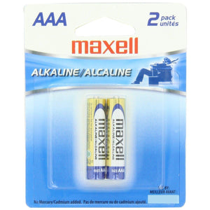 Maxell AAA 2 pack Alkaline Battery-Battery-Jacobs Photo and Digital