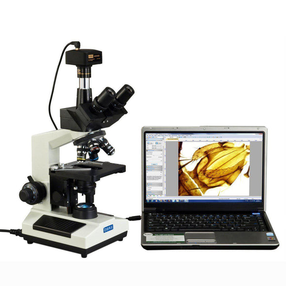 Omax 40-2500x Full Size Trinocular Compound w/ Camera Microscope-Microscope-Jacobs Photo and Digital