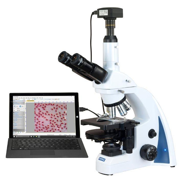 Omax 40x-3000x Infinity PLAN Phase Contrast Lab Microscope w/ 10mp Camera