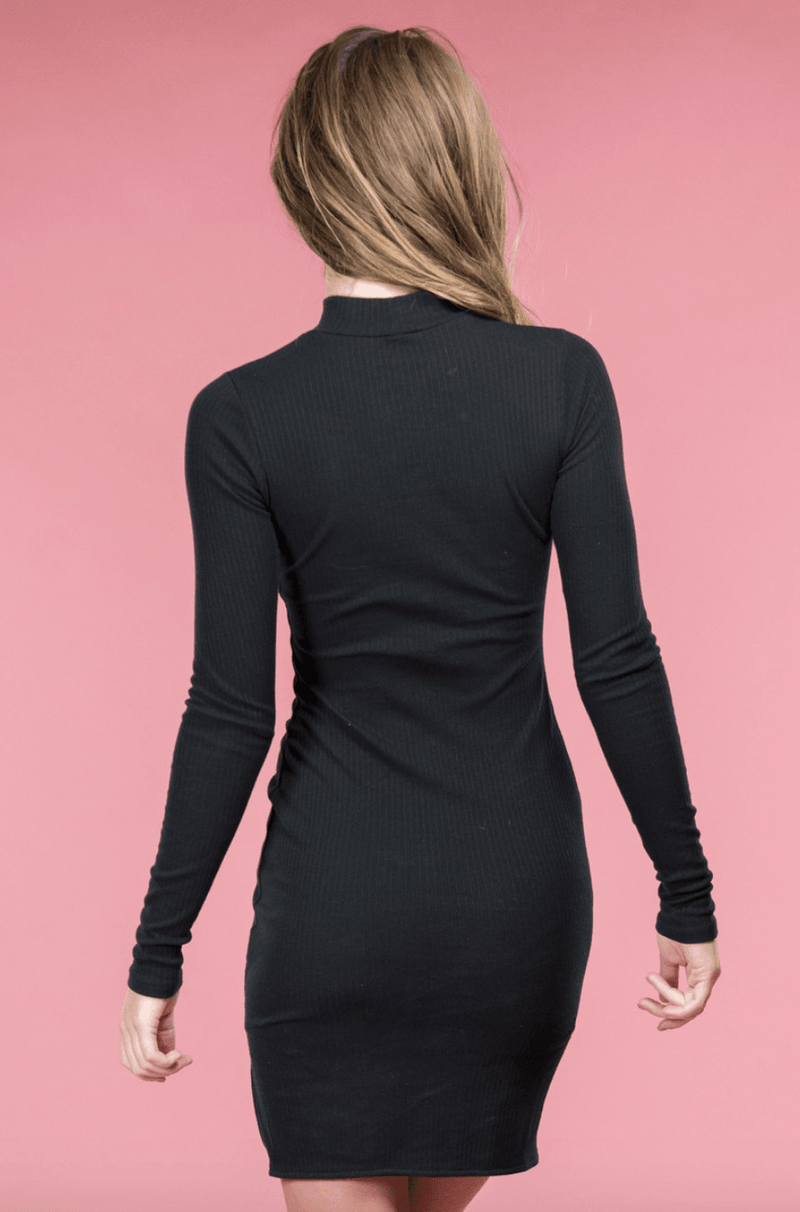 Becca Black Knit Dress,Womem - Apparel - Dresses