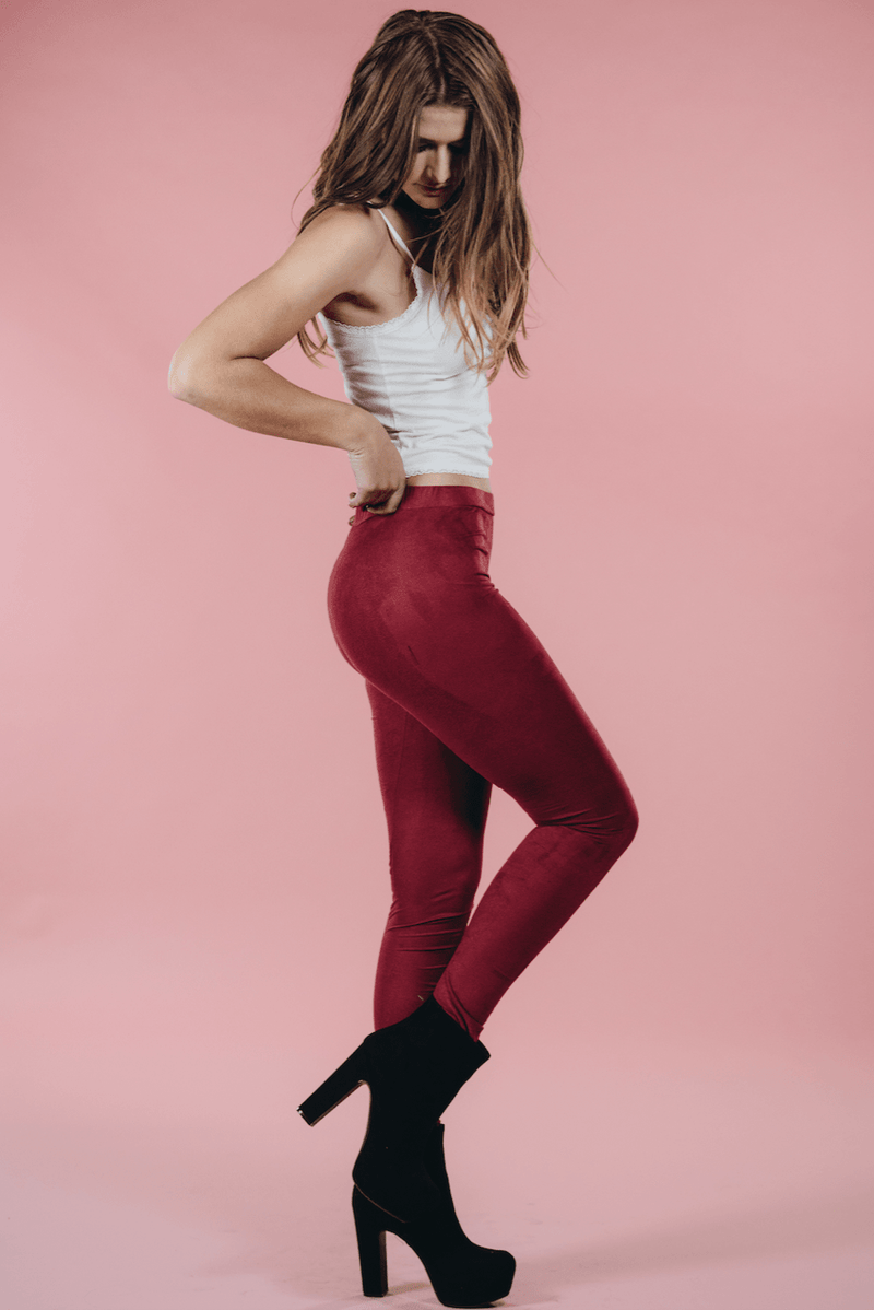 Bella Suede Leggings,Bottoms