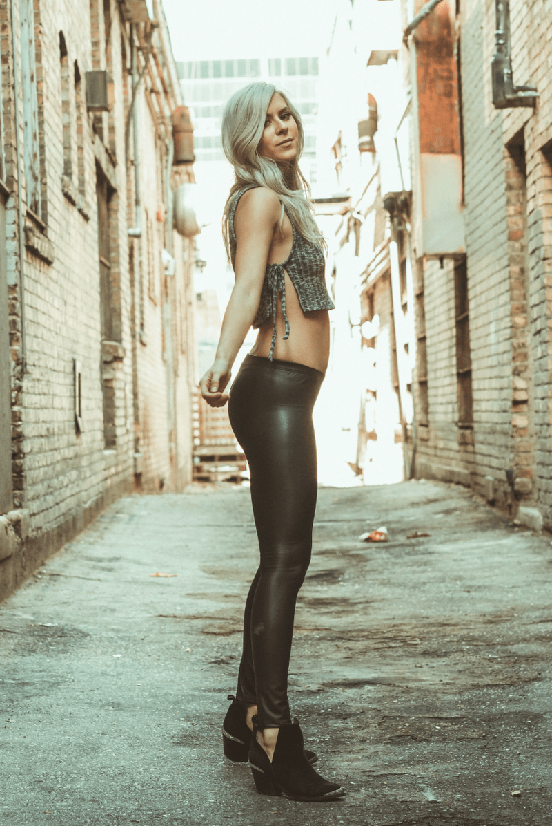 Black Leather Leggings,Bottoms
