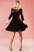 Burgundy Velvet Swing Dress