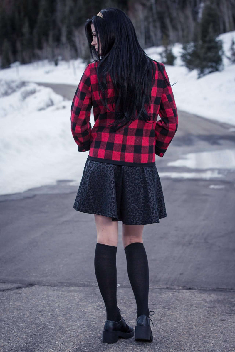 Dark as Night Skater Skirt,Skirts