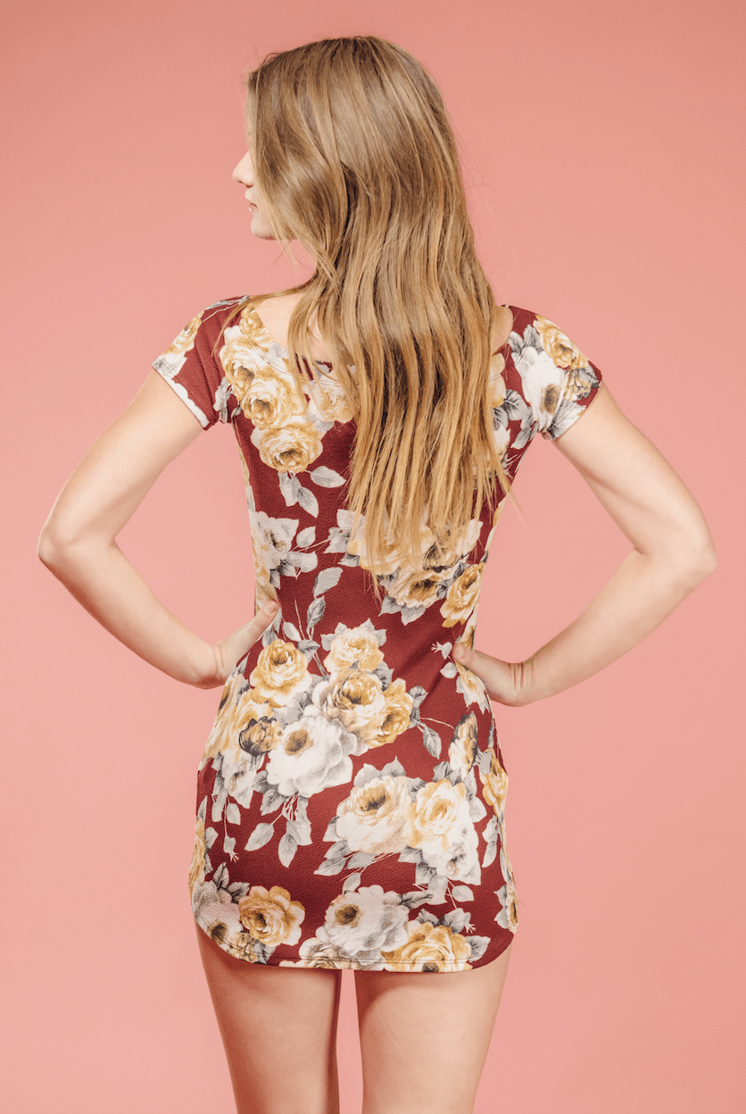 Floral Bodycon Dress,Women - Apparel - Dresses