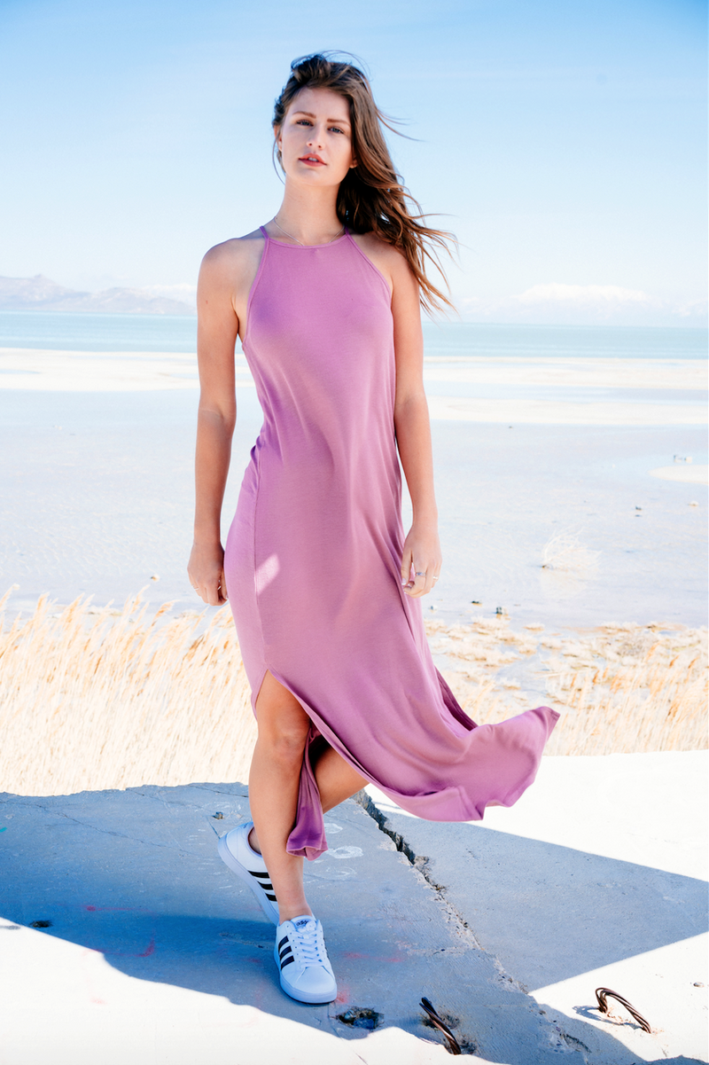 Grapeade Side Slit Maxi,Women - Apparel - Dresses