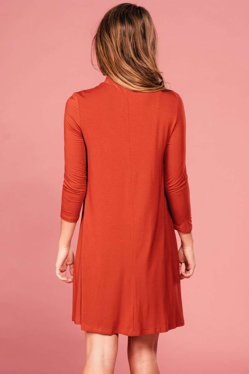 Kenna Rust Dress,Women - Apparel - Dresses