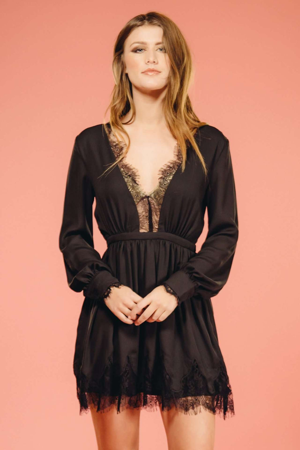 Black Lace Dress,Women - Apparel - Dresses