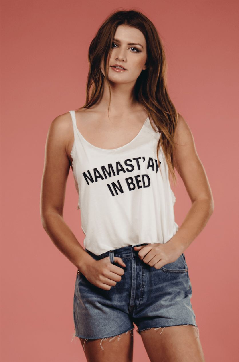 Namast'ay In Bed Tee,Women - Apparel - Shirts - T-Shirts