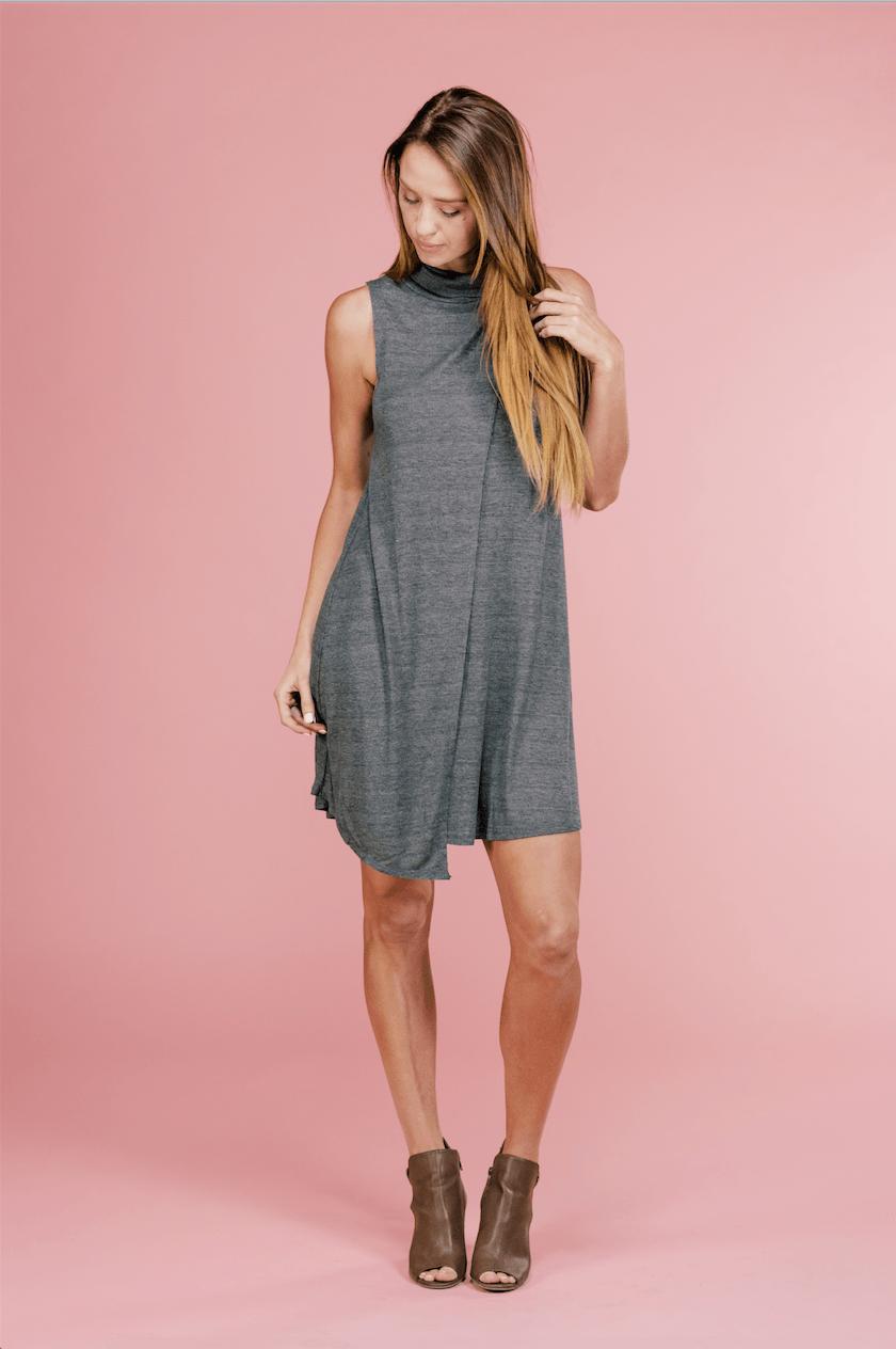 Nora Turtle Neck Layer Dress,Womem - Apparel - Dresses