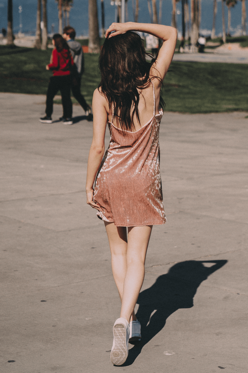 Pink Velvet Shift Dress