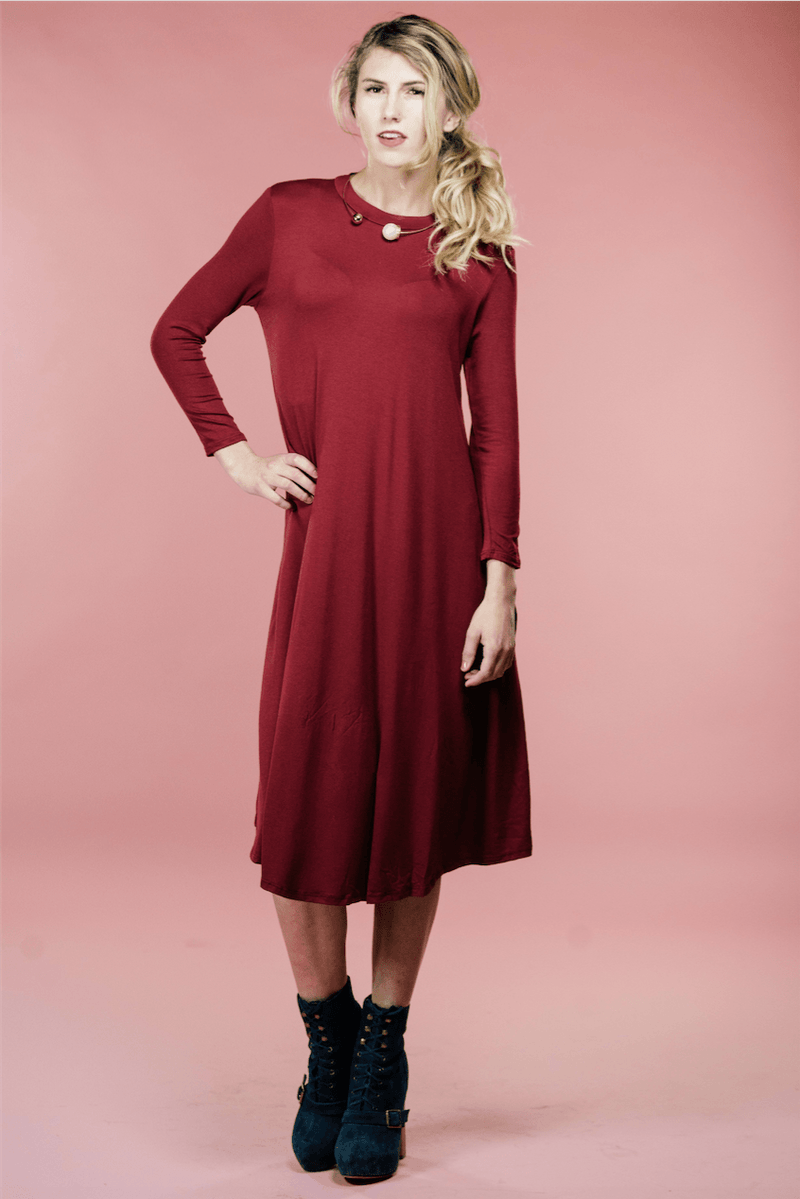 Rebe Red Dress,Womem - Apparel - Dresses