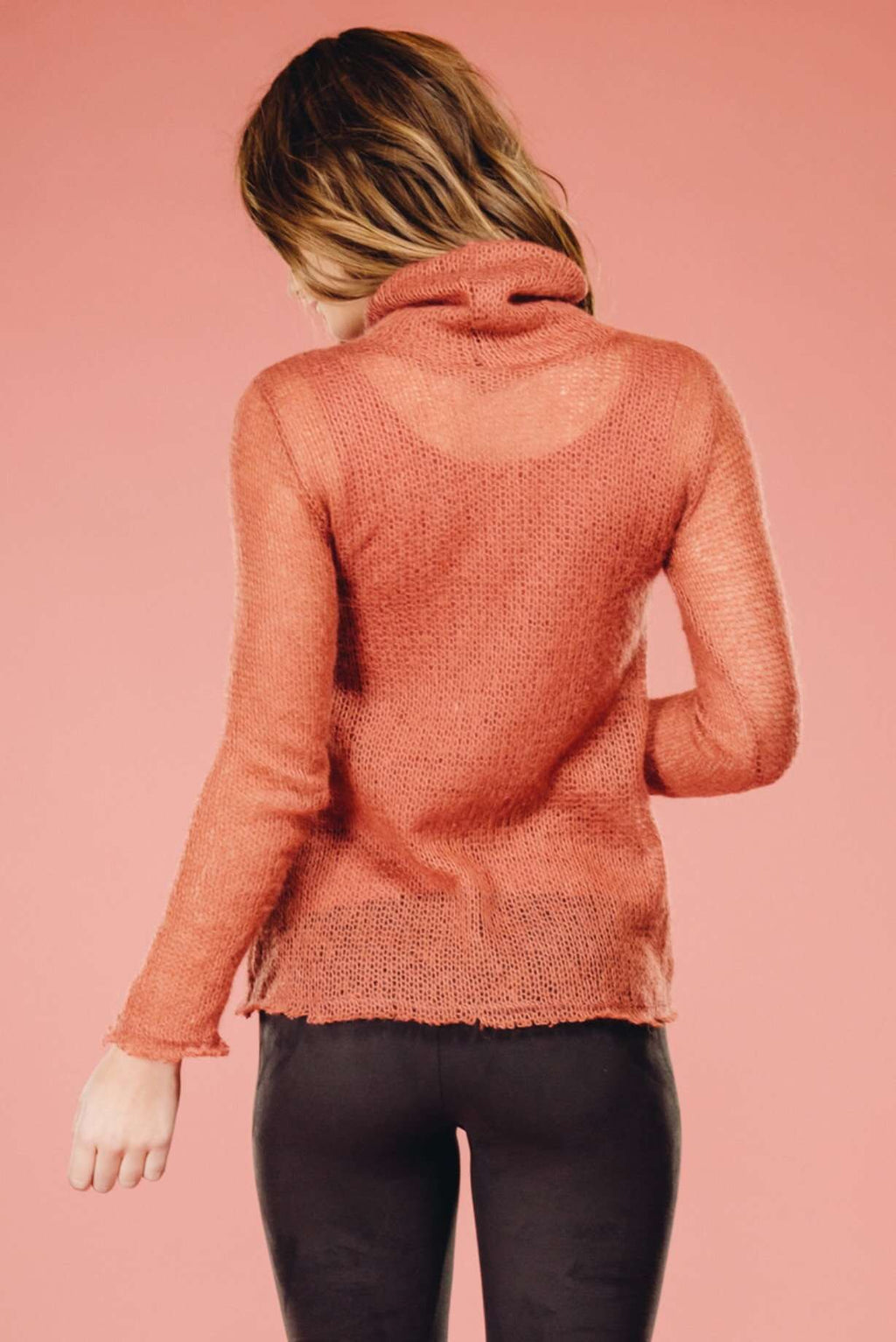 Rose Turtle Neck Top,Sweater