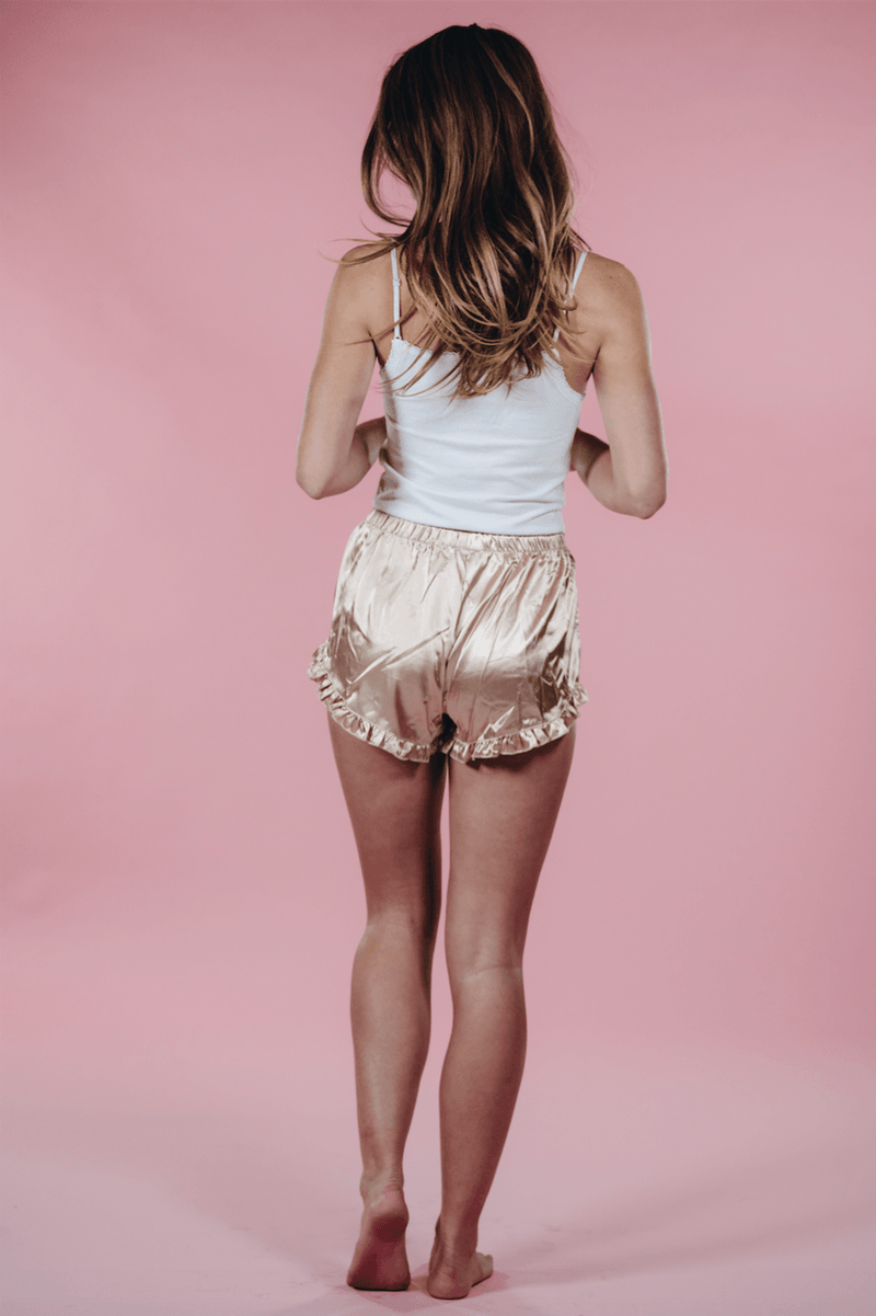 Satin Frill Short,Bottoms