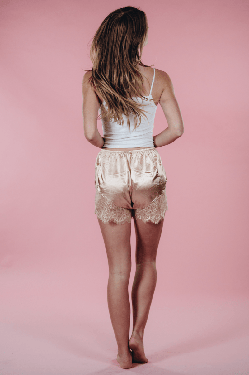 Satin Lace Short,Bottoms