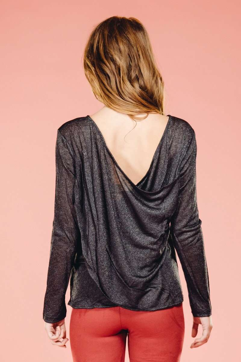 Side Slit Rib Sweater