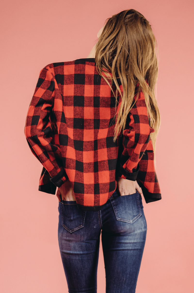 Stephanie Plaid Jacket,Outerwear