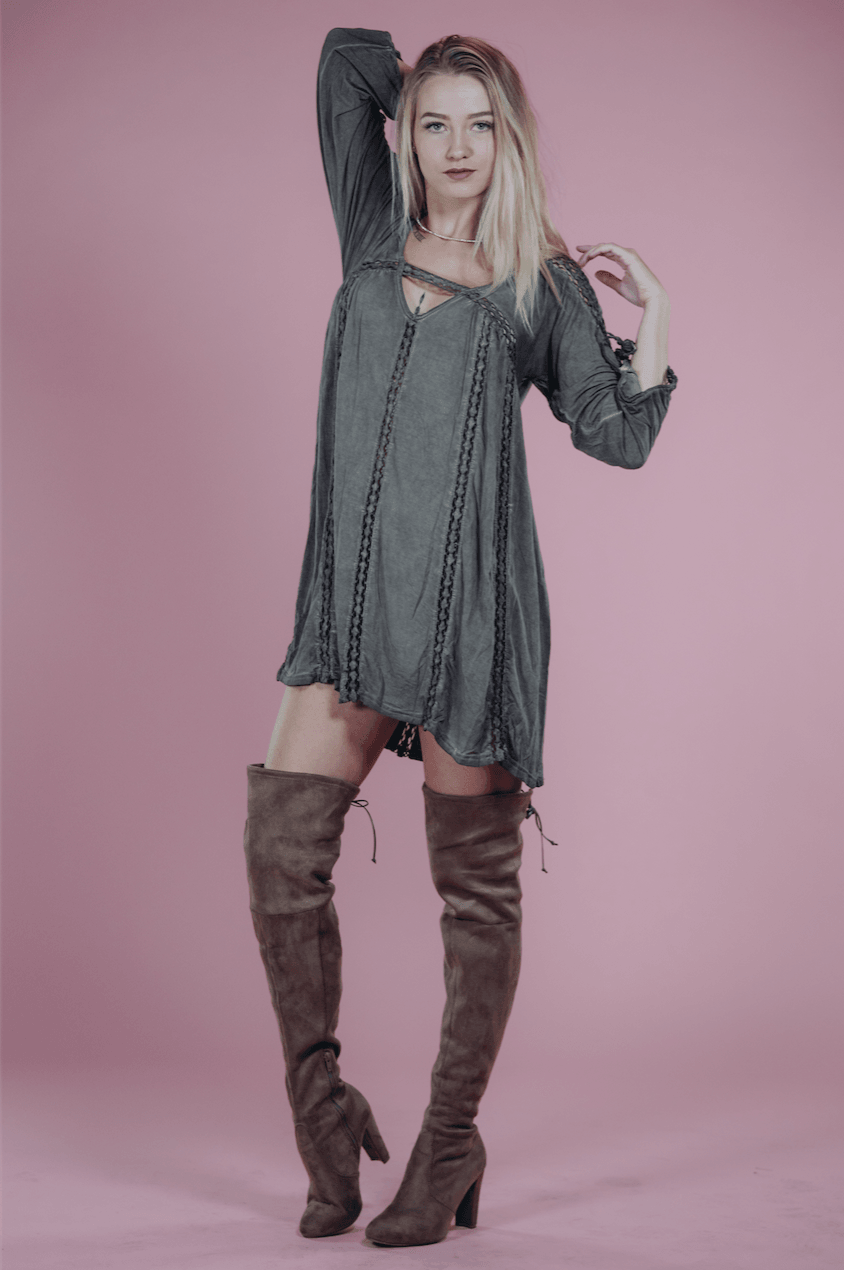 Tay Olive Shift Dress,Womem - Apparel - Dresses