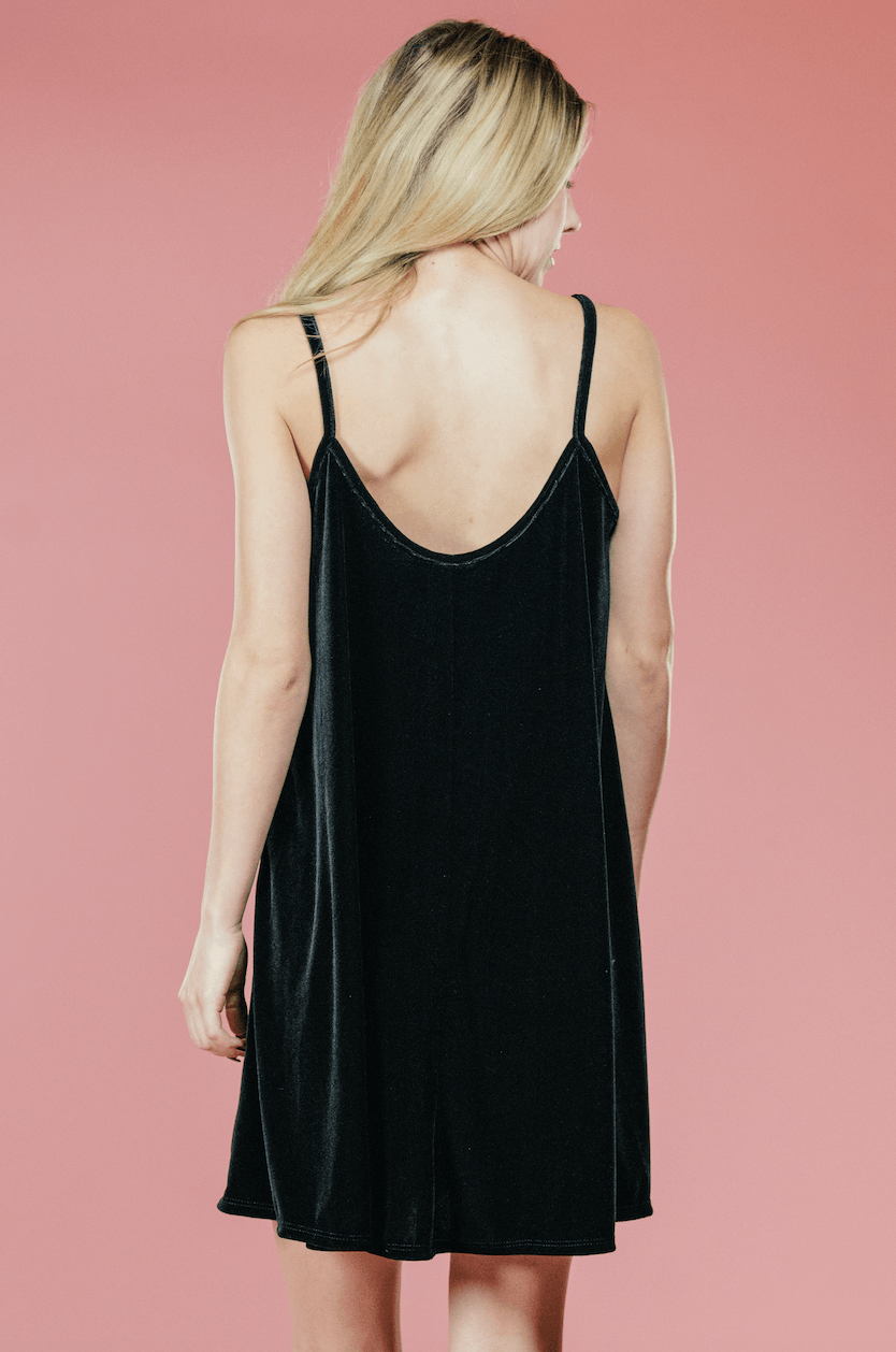 Velvet Cami Dress,Women - Apparel - Dresses