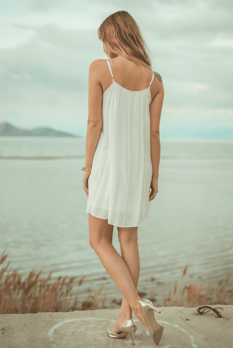White Sky Crochet Mini,Womem - Apparel - Dresses